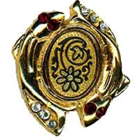 Damascene Gold Pisces the Fish Zodiac Tie Tack / Pin by Midas of Toledo Spain style 5324